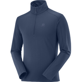 Salomon Outrack Mid Shirt Halve Rits Heren, night sky